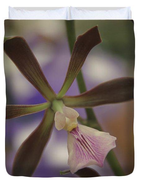 He Pua Ke Aloha - The Flower Of Love - Orchidea Tropicale Duvet Cover by Sharon Mau