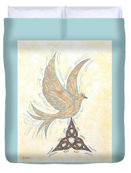 He Set Us Free Duvet Cover by Susie WEBER