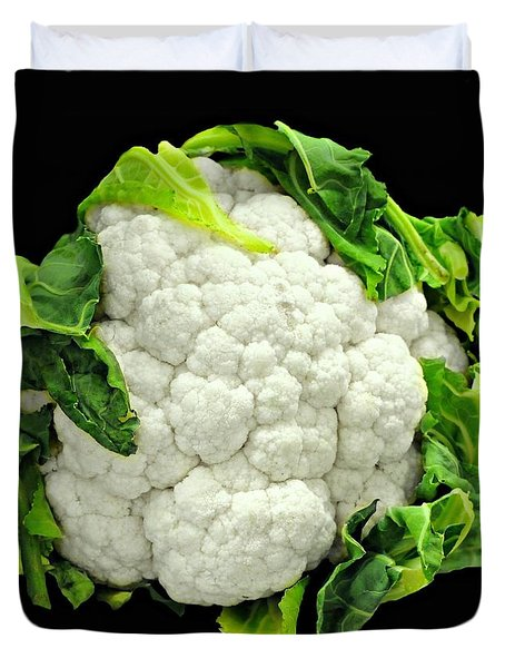 Head Of Cauliflower Duvet Cover by Diana Angstadt