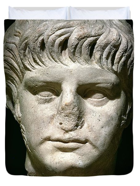 Head Of Nero Duvet Cover by Anonymous