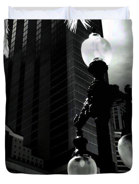 Head Toward The Light Duvet Cover by Robert McCubbin