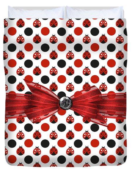Healing Ladybugs Duvet Cover by Debra  Miller