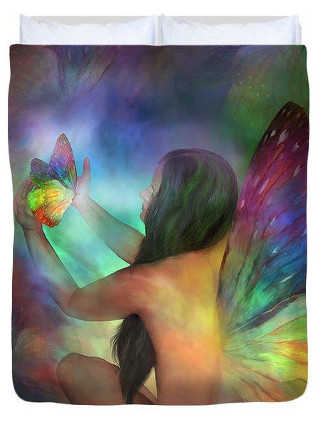 Healing Transformation Duvet Cover by Carol Cavalaris