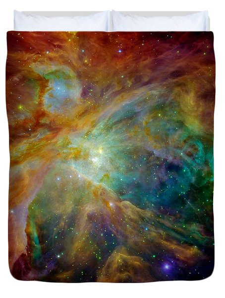 Heart Of Orion Duvet Cover by Benjamin Yeager
