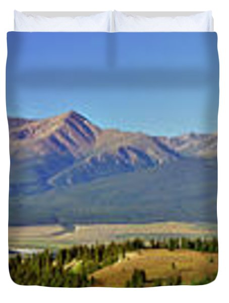 Heart Of The Sawatch Panoramic Duvet Cover by Jeremy Rhoades