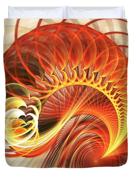 Heart Wave Duvet Cover by Anastasiya Malakhova