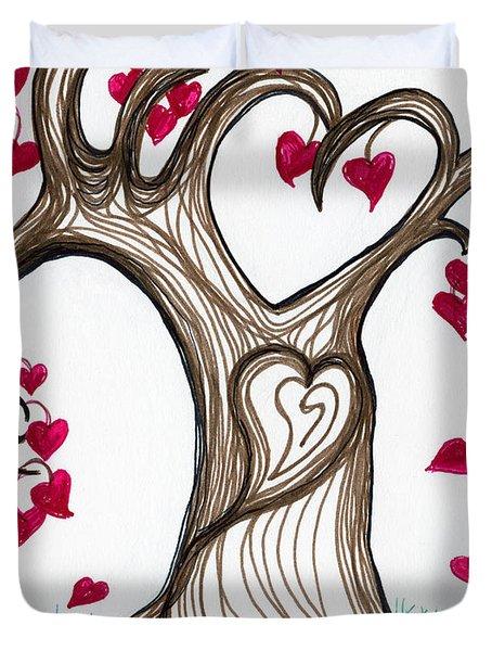 Heartful Tree 4 You Duvet Cover by Minnie Lippiatt