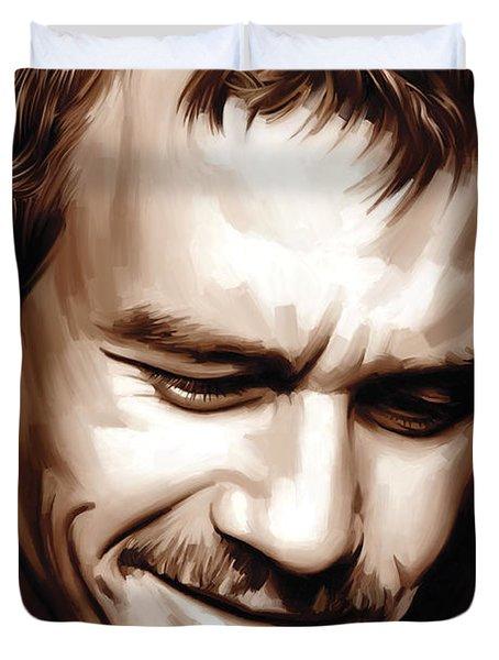 Heath Ledger Artwork Duvet Cover by Sheraz A