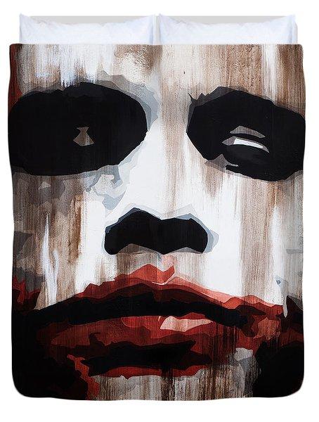Heath Ledger Why So Serious Duvet Cover by Brad Jensen