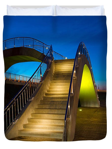 Heavenly Stairs Duvet Cover by Chad Dutson