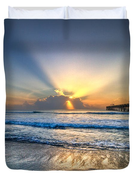 Heaven's Door Duvet Cover by Debra and Dave Vanderlaan
