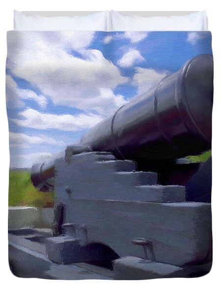 Heavy Artillery Duvet Cover by Jeff Kolker