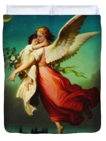 Heiliger Schutzengel  Guardian Angel 10 Pastel Duvet Cover by MotionAge Designs