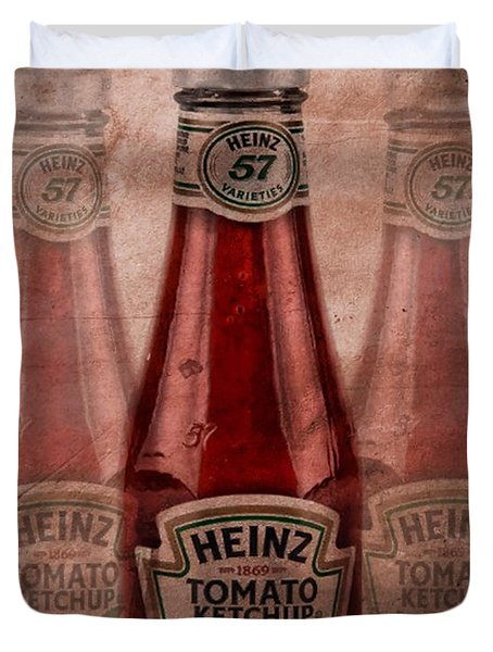 Heinz Tomato Ketchup Duvet Cover by Dan Sproul