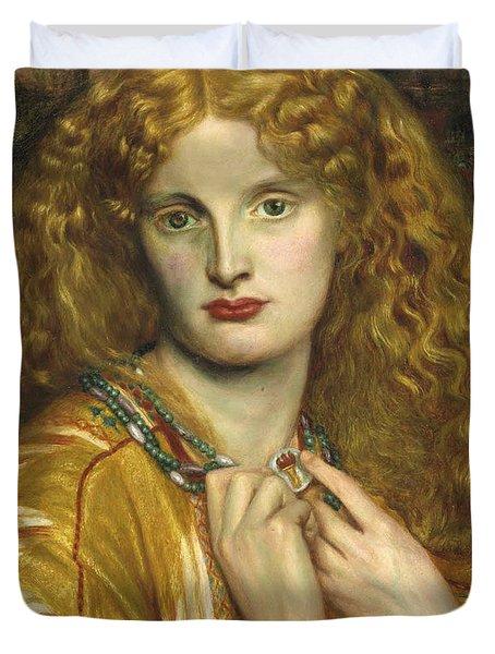 Helen Of Troy Duvet Cover by Dante Gabriel Rossetti