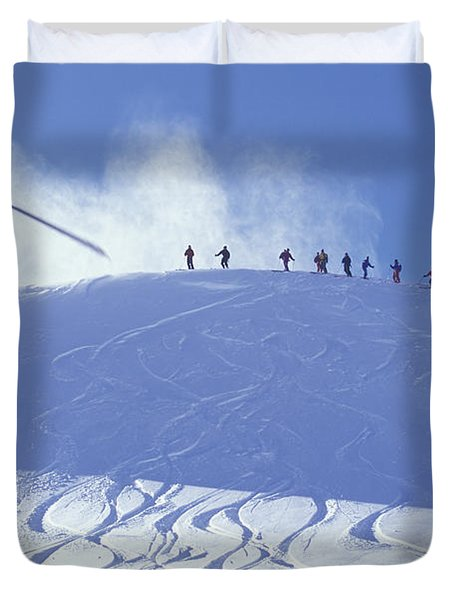 Heliskiing, Whistler, Bc, Canada Duvet Cover by Insight Photography