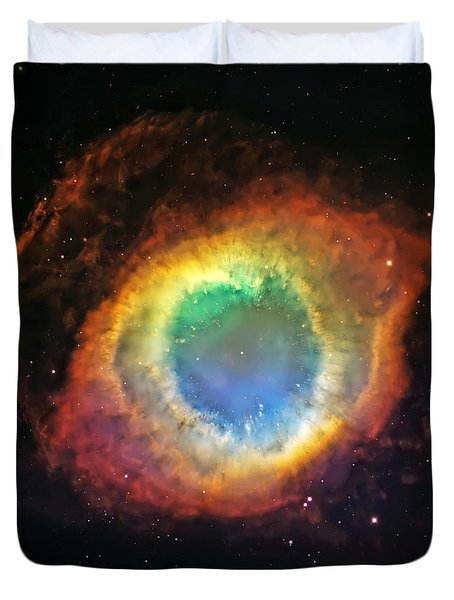 Helix Nebula 2 Duvet Cover by The  Vault - Jennifer Rondinelli Reilly