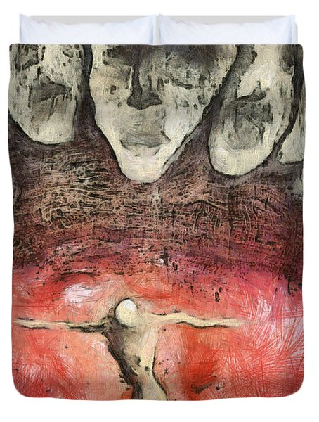 Hell Are The Others Duvet Cover by Michal Boubin