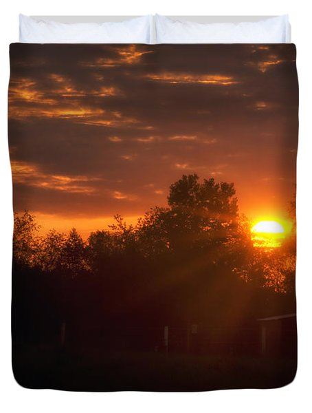 Hello Sunshine Duvet Cover by Thomas Woolworth