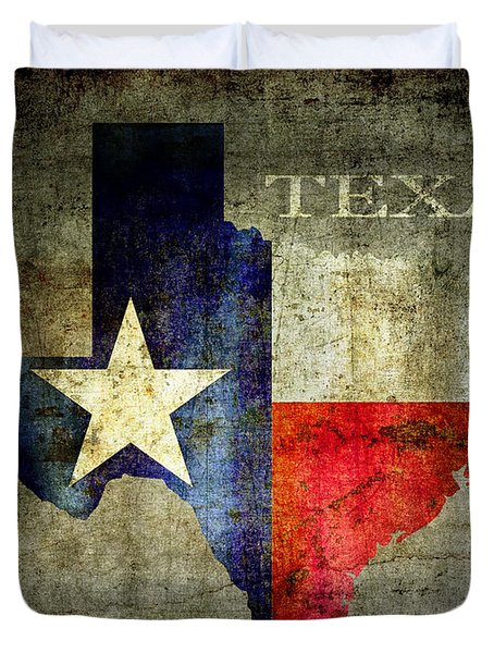 Hello Texas Duvet Cover by Daniel Hagerman