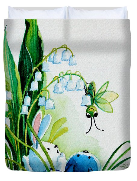 Hello There Duvet Cover by Hanne Lore Koehler