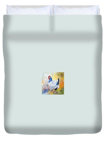Hen Duvet Cover by Dorothy Maier