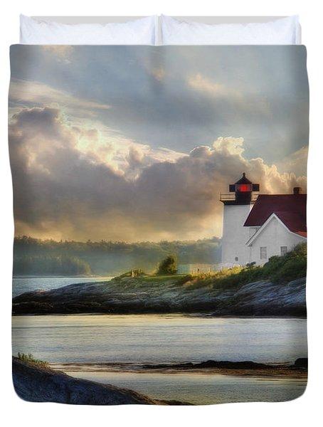 Hendricks Head Light Duvet Cover by Lori Deiter