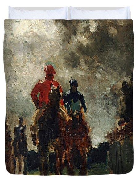 Henri De Toulouse Lautrec Duvet Cover by The Jockeys