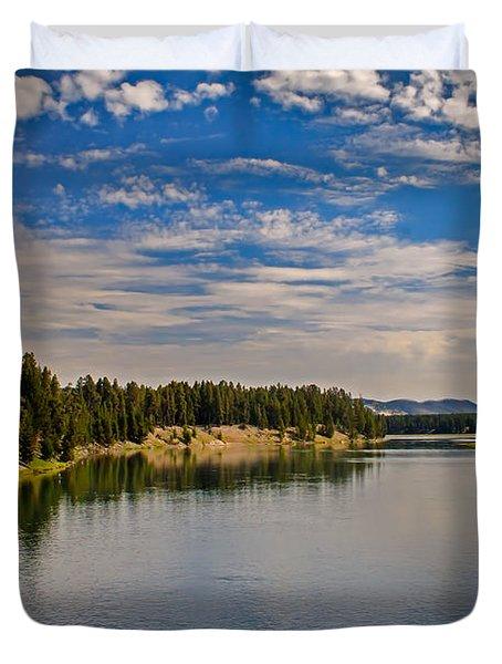 Henry Fork of Snake River II Duvet Cover by Robert Bales