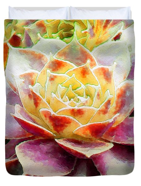 Hens And Chicks Series - Early Morning Quite Duvet Cover by Moon Stumpp