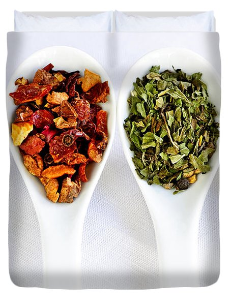 Herbal teas Duvet Cover by Elena Elisseeva