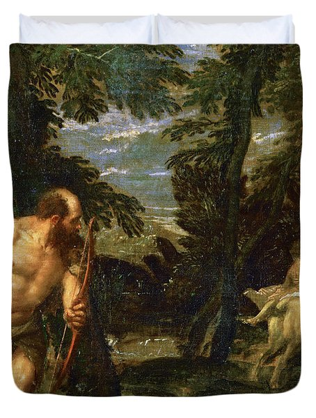 Hercules Deianira And The Centaur Nessus Duvet Cover by Paolo Veronese