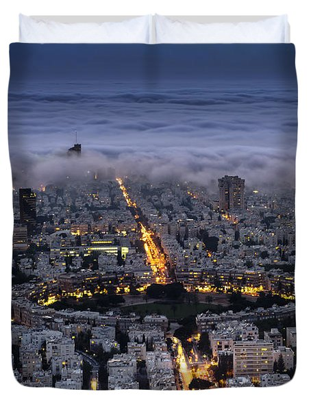 Here Comes The Fog  Duvet Cover by Ron Shoshani