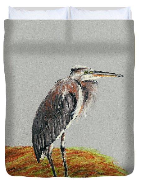 Heron Duvet Cover by Anastasiya Malakhova