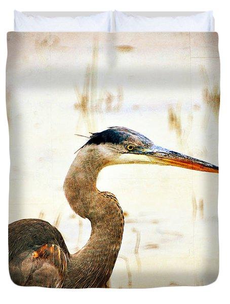 Heron Duvet Cover by Marty Koch