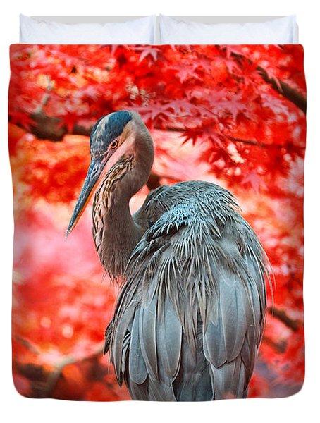 Heron Wonderland Duvet Cover by Douglas Barnard