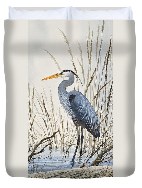 Herons Natural World Duvet Cover by James Williamson
