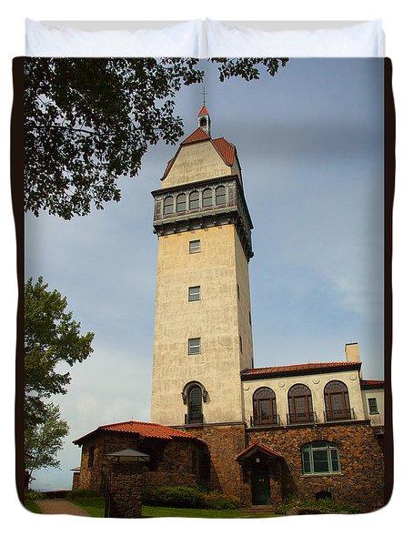 Heublein Tower Duvet Cover by Karol Livote