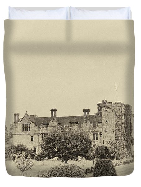 Hever Castle Yellow Plate 2 Duvet Cover by Chris Thaxter