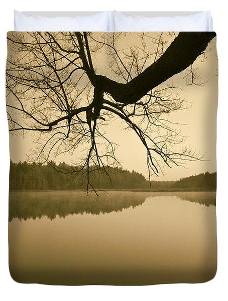Hewitt Pond No. 2 - vertical Duvet Cover by David Gordon