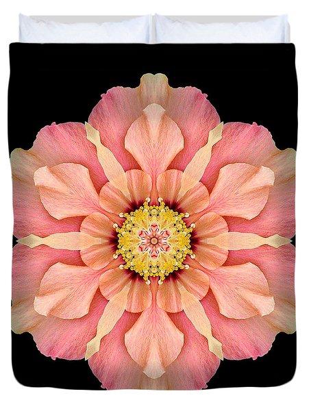 Hibiscus Rosa-sinensis I Flower Mandala Duvet Cover by David J Bookbinder