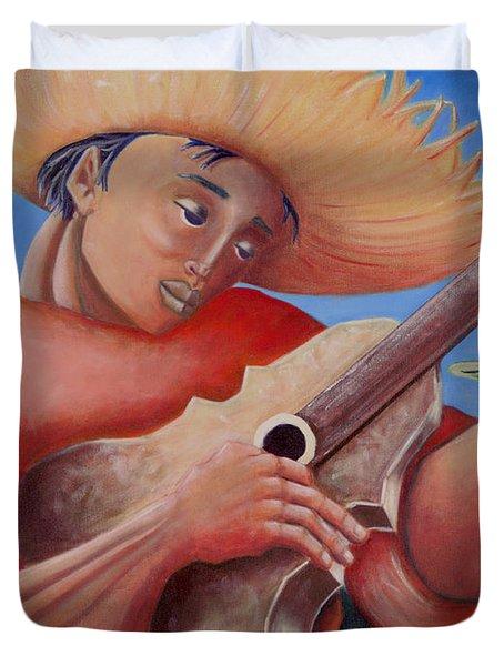 Hidalgo Campesino Duvet Cover by Oscar Ortiz