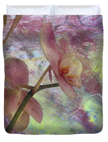 Hidden Orchid Duvet Cover by Donna Walsh