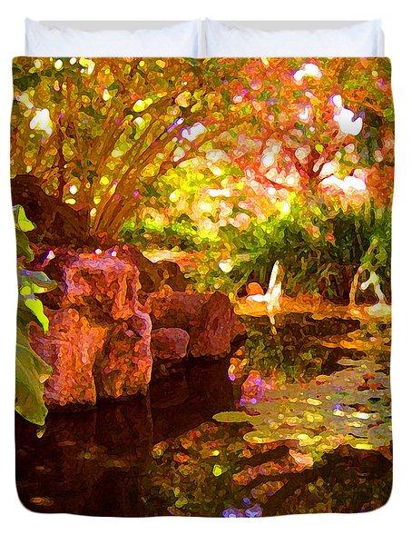 Hidden Pond Duvet Cover by Amy Vangsgard