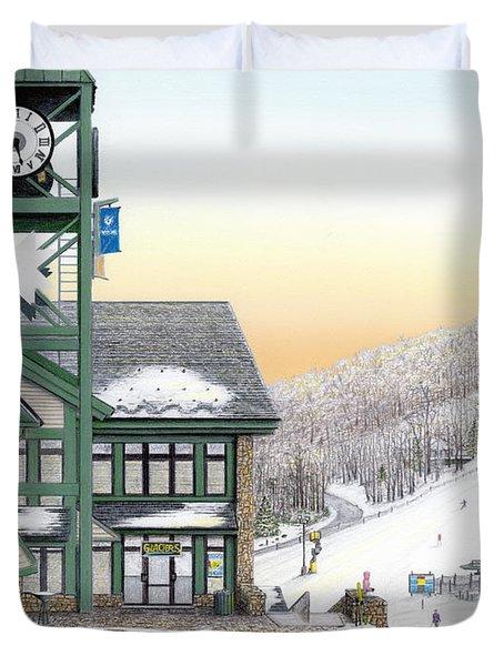 Hidden Valley Ski Resort Duvet Cover by Albert Puskaric