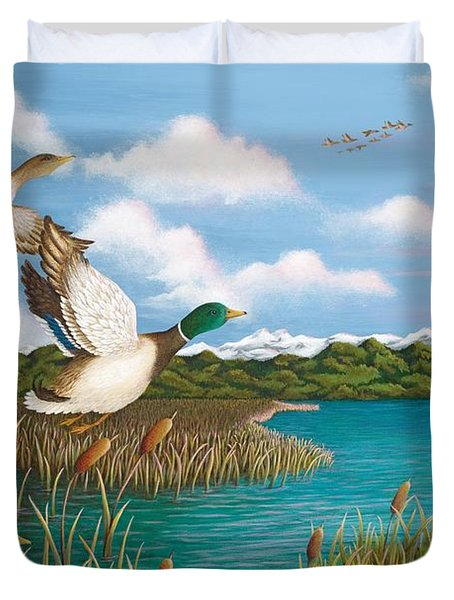 Hiding Out Duvet Cover by Katherine Young-Beck