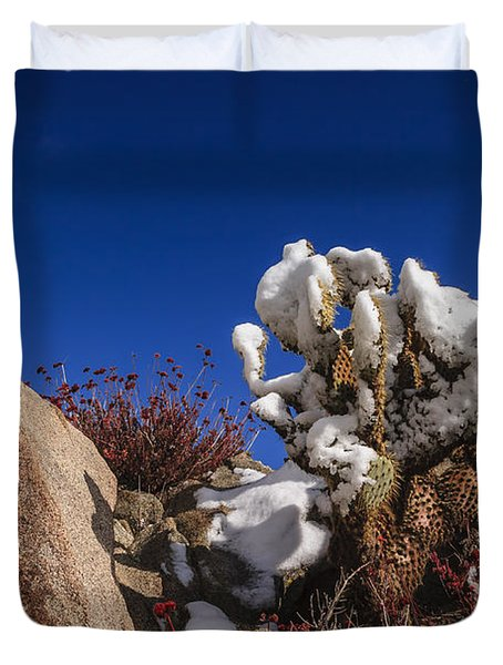 High Desert Snow 2 Duvet Cover by Scott Campbell