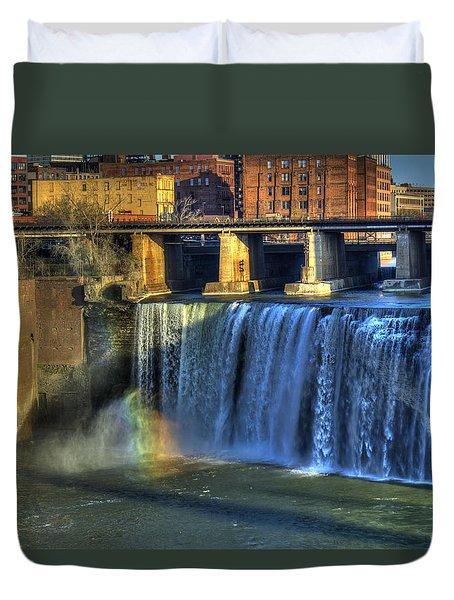 High Falls Rainbow Duvet Cover by Tim Buisman