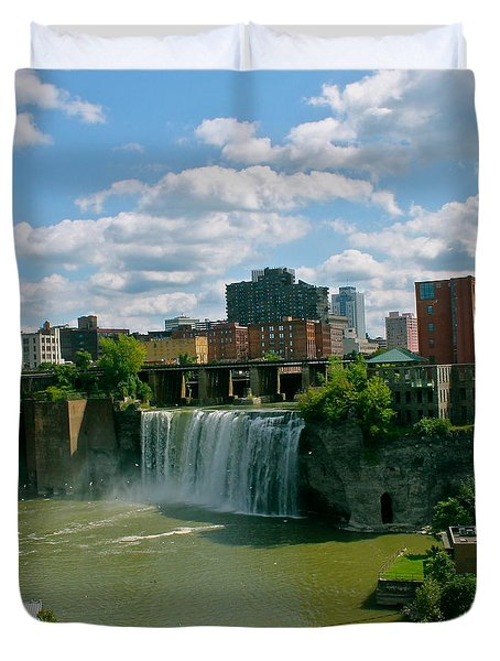 High Falls Rochester Duvet Cover by Justin Connor