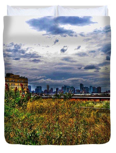 High Line on the Hudson Duvet Cover by Randy Aveille